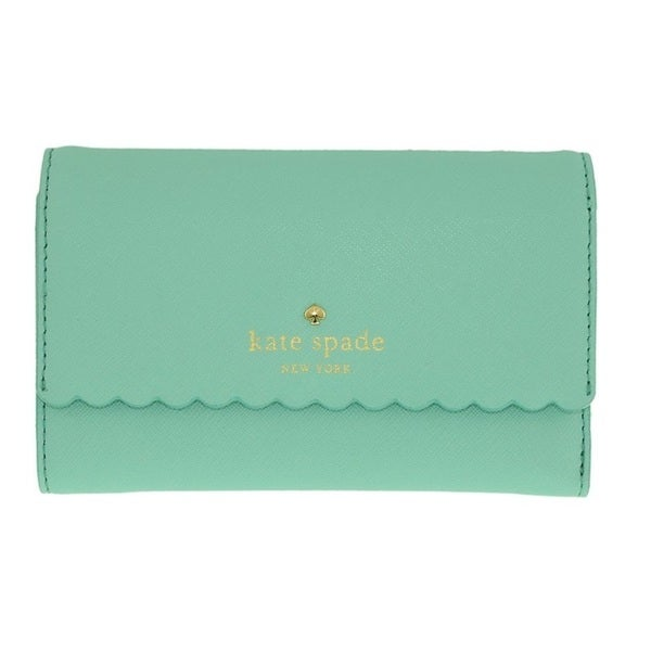 Kate Spade Cape Drive Kieran Soft Aqua/Mint Splash Wallet