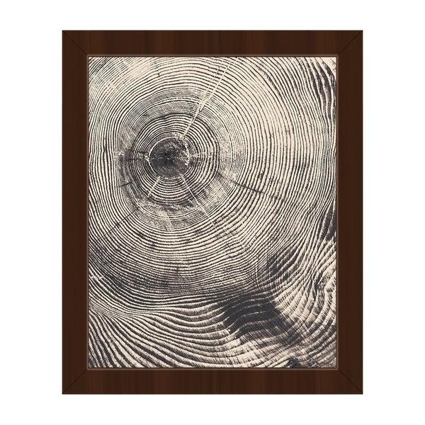 Tree Ring Act Framed Canvas Wall Art