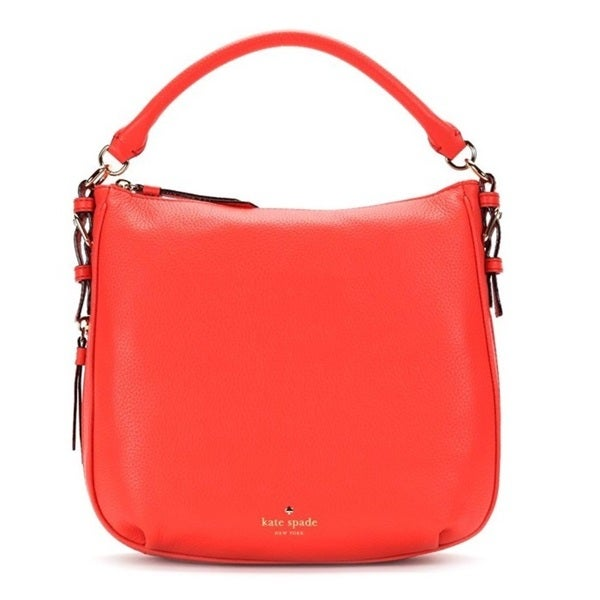Kate Spade Cobble Hill Small Ella Bright Papaya Shoulder Handbag