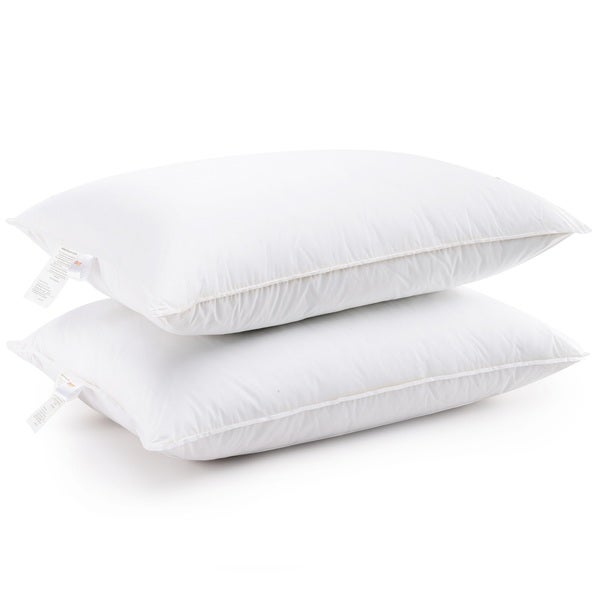 Cheer Collection Hypoallergenic Alternative Down Hollow Fiber Pillow (Set of 2)