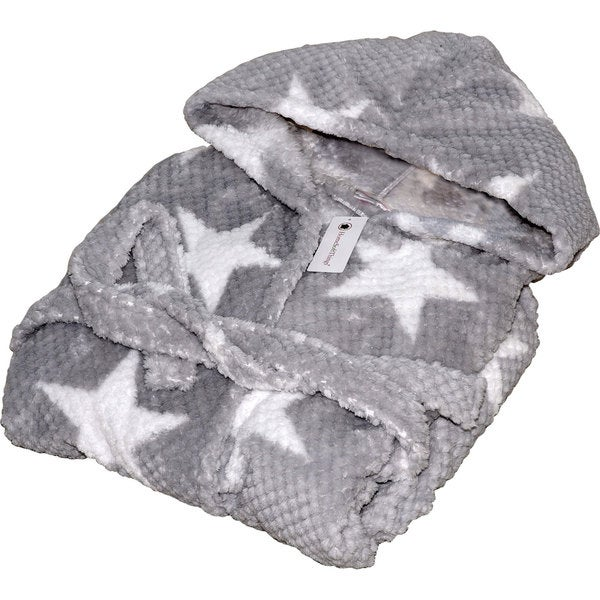 Home Soft Things Star Flannel Bath Robe