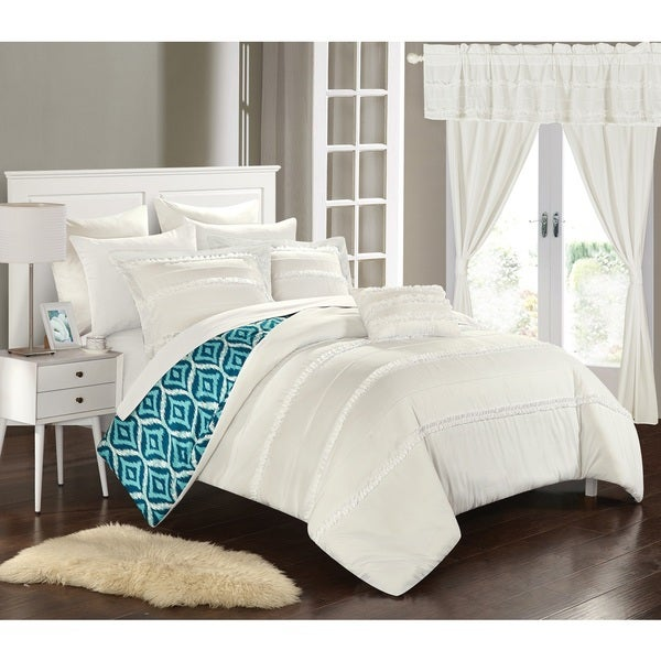 Chic Home 20-Piece Kyrie Room-In-A-Bag White Comforter Set