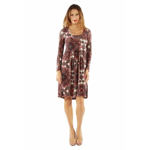 Bellissima Patterned Midi Dress