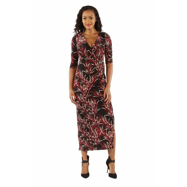 Stunning Silky Bamboo Print Maxi Dress
