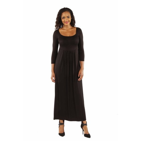 On Trend, Figure Flattering Maxi Dress
