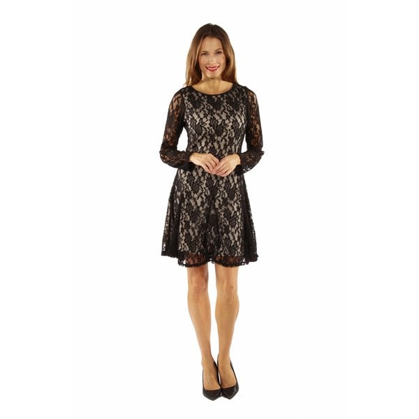 Lace and Fire Midi Dress