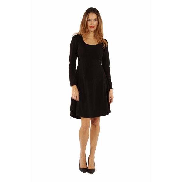Temptress Black Midi Dress