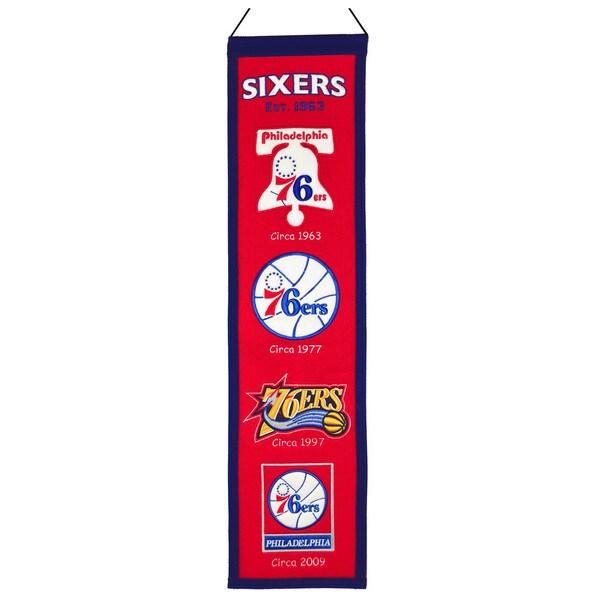 Philadelphia 76ers NBA Heritage Banner