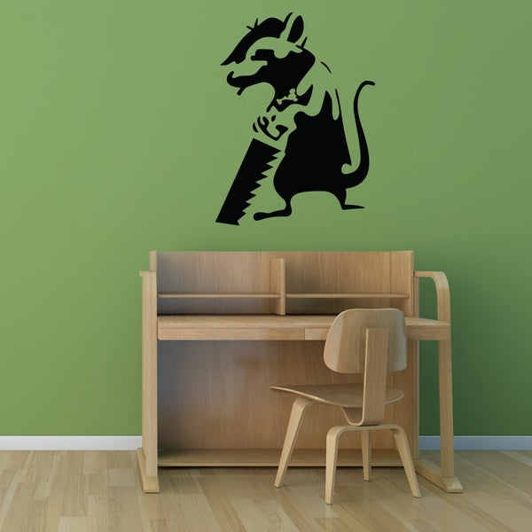 Banksy 'Journeyman Rat' Vinyl Wall Art Decal 21207351