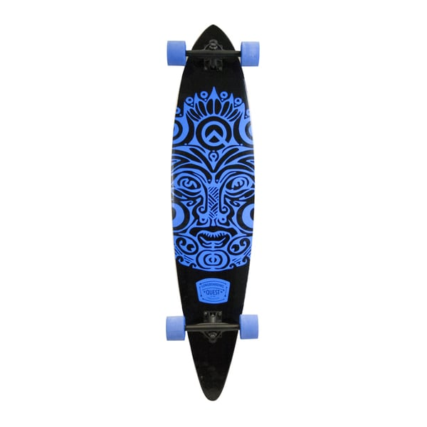 Quest Buena Karma Royal Blue Maple Deck 43-inch Pintail Longboard Skateboard