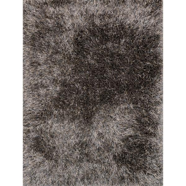 Hand-tufted Rocco Slate/ Taupe Ribbon Shag Rug (7'6 x 9'6)