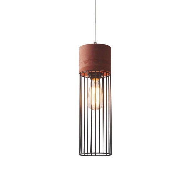 Weybridge Red Metal Pendant Lamp
