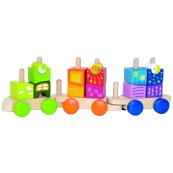 Hape 'Early Explorer' Fantasia Blocks Wooden Train Set 21211874