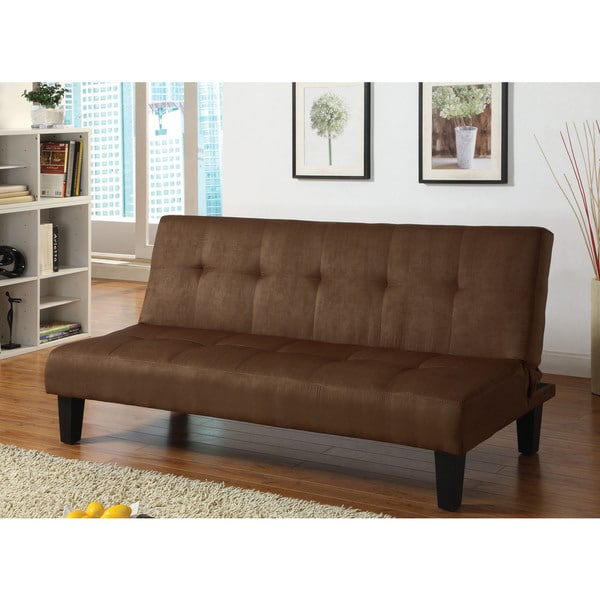 Emmet Chocolate Microfiber Adjustable Sofa