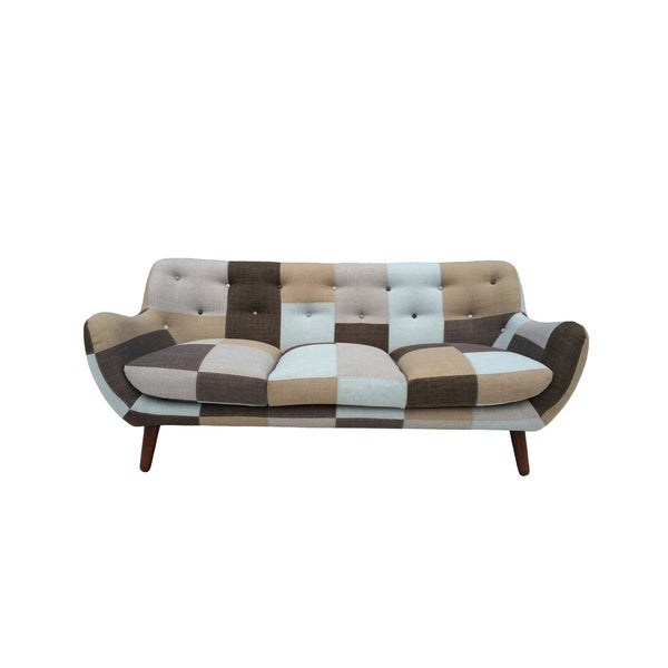 Naples Bridgewater Rustic Patchwork Sofa