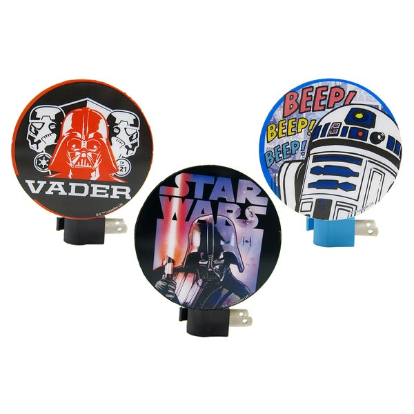 Star Wars Black Plastic Wall Night Lights (Pack of 3)