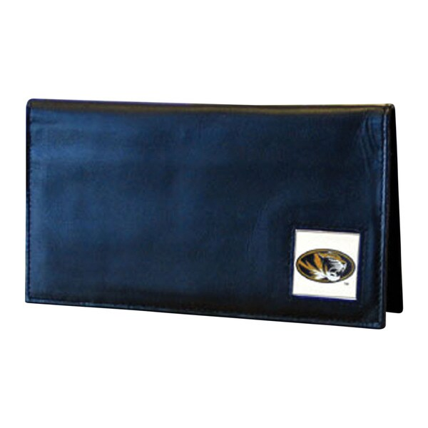 NCAA Blue Leather Missouri Tigers Checkbook Cover