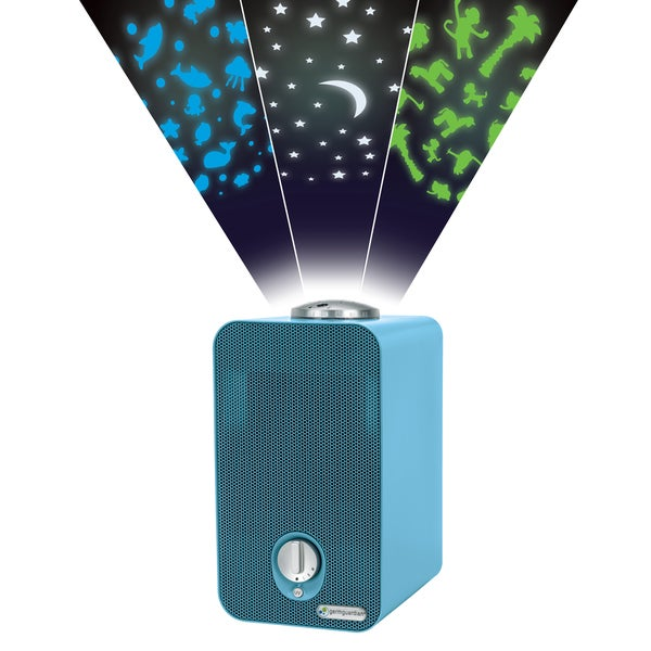 GermGuardian Blue 11-inch 4-in-1 Night-Night HEPA Air Purifier with UV Sanitizer, Odor Reduction and Projector 21212218