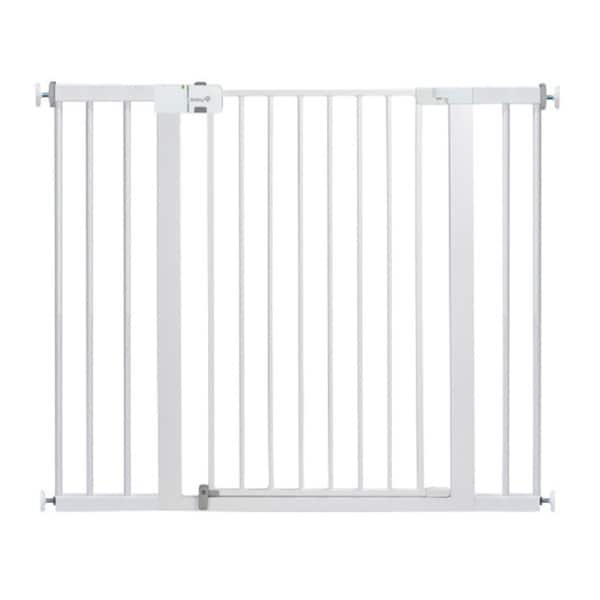Safety 1st White Metal Easy-install Extra Tall and Wide Child Gate