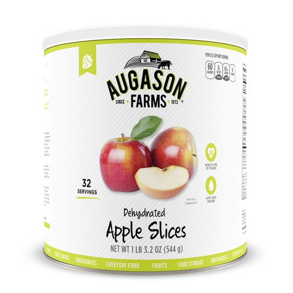 Augason Farms Dehydrated Apple Slices Emergency Food Storage #10 Can