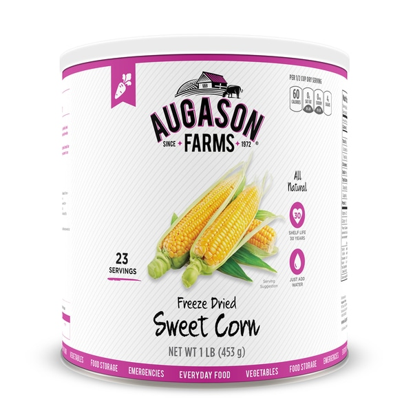 Augason Farms Freeze Dried Sweet Corn 16 oz #10 Can