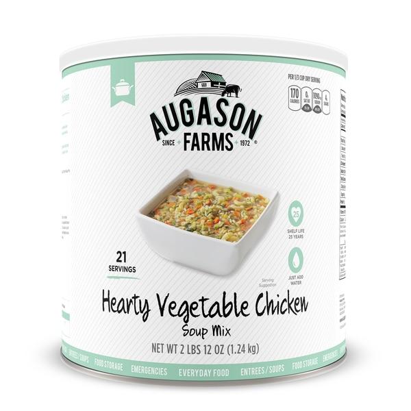 Augason Farms 44-ounce #10 Can Hearty Vegetable Chicken Soup Mix