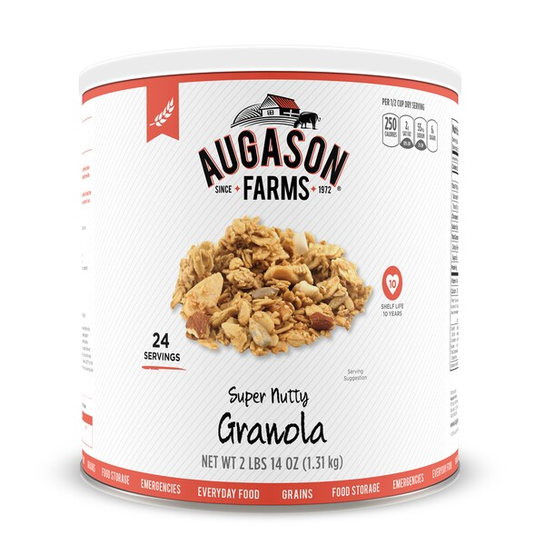 Augason Farms 46 oz #10 Can Super Nutty Granola