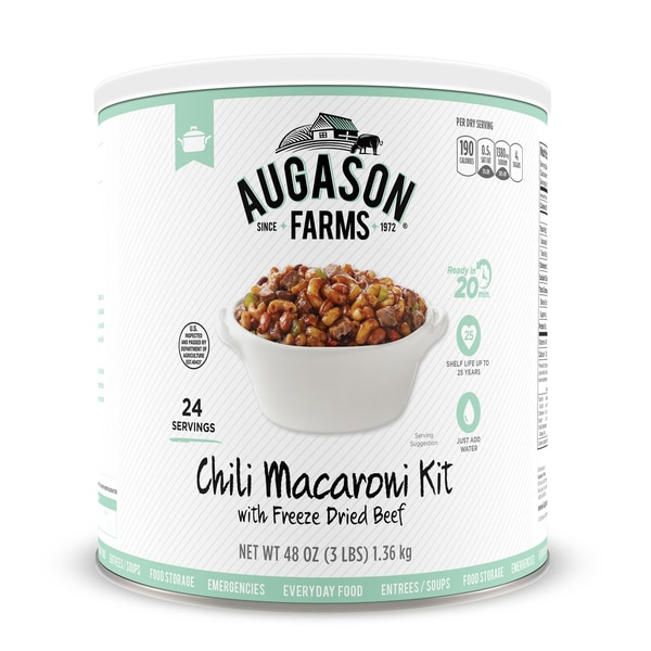 Augason Farms Chili Macaroni with Freeze Dried Beef 48 oz No. 10 Can -  5-00273