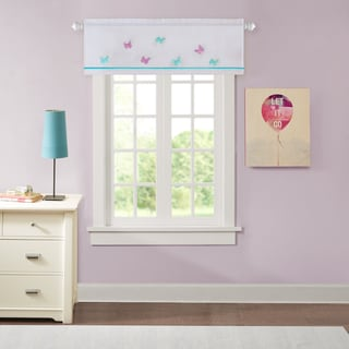 Madison Park Kida Sheer Embroidered Window Valance