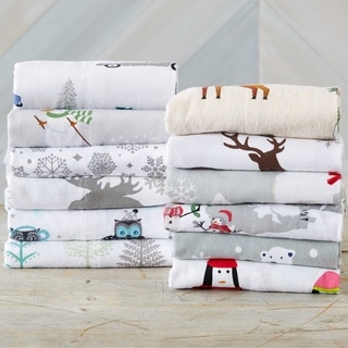 Home Fashion Designs Super Soft Printed Turkish Cotton Flannel Bed Sheet Set