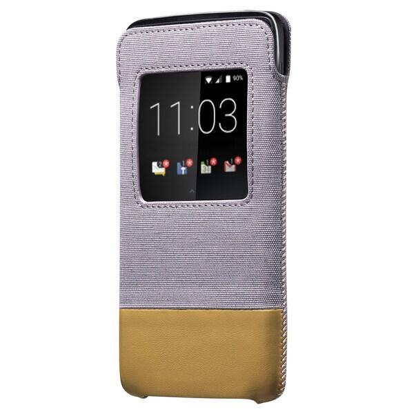 BlackBerry DTEK50 Smart Pocket Case - Grey/Tan