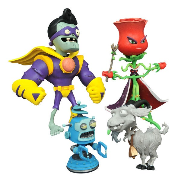 Diamond Select Toys LLC 'Plants vs. Zombies Garden Warfare 2' Select Rose vs. Captain Brainz Action Figure 21213573