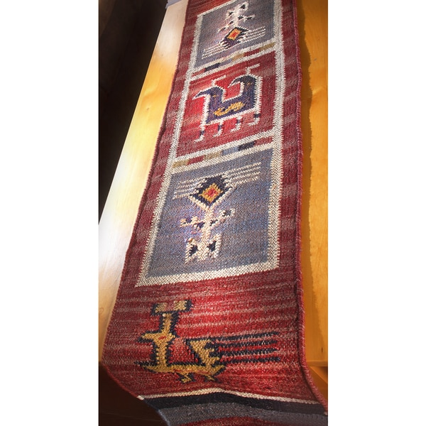 "Tribal 13x72"" Flat Weave Table Runner"