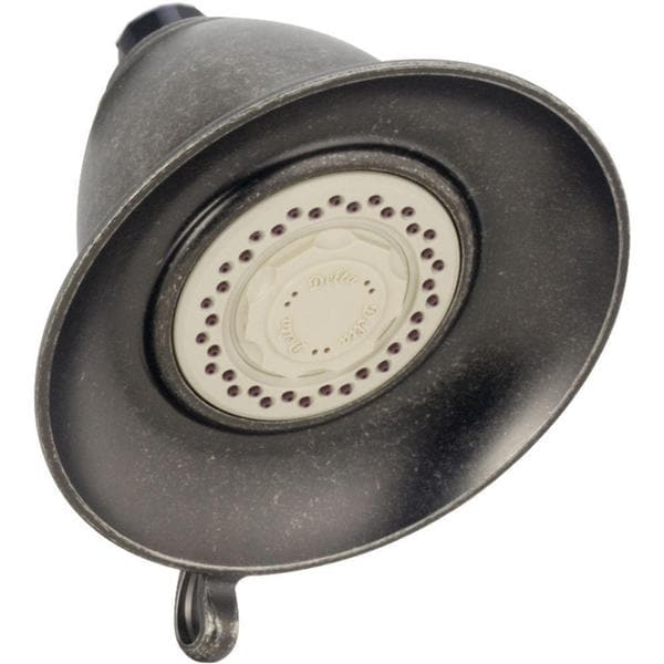 Delta Victorian 3-Spray 5-1/2 in. Touch-Clean Showerhead in Aged Pewter RP34355PT
