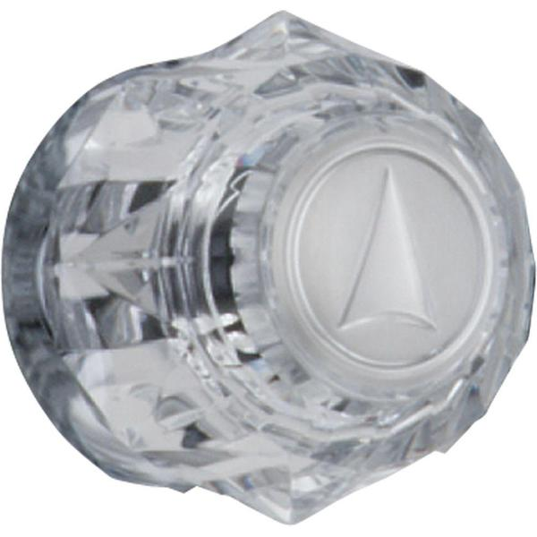 Delta Clear Knob Handle with Arrow Indicator in Chrome H31