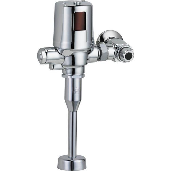 Delta Exposed Battery-Operated Flush Valve in Chrome 81T231BTA