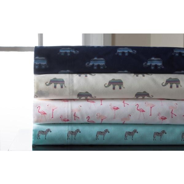 Whimsical Print 300 Thread Count Cotton Sheet Set 21214173