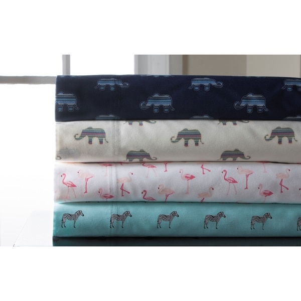 Whimsical Print 300 Thread Count Cotton Sheet Set 21214184