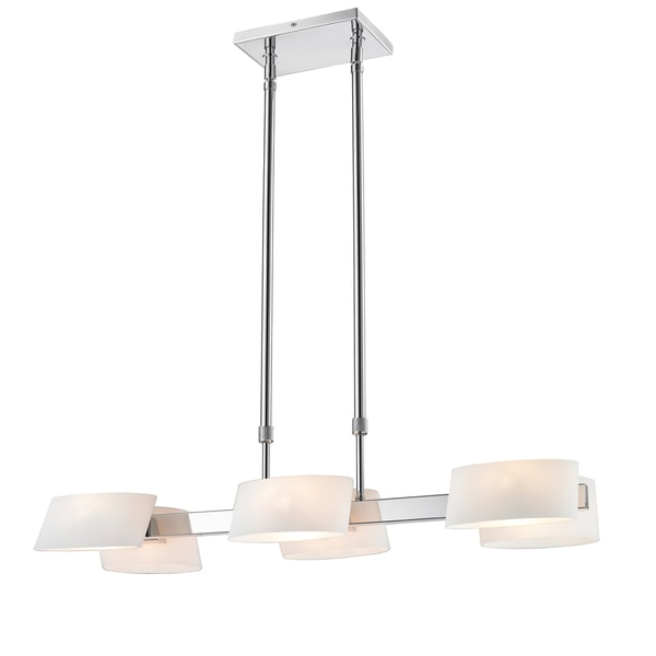 Golden Lighting Iberlamp Clio #C130-06-CH-OP 6-light Linear Pendant