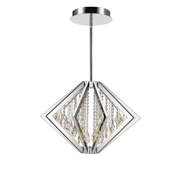 Golden Lighting Iberlamp Chrome Bezel Medium LED Pendant