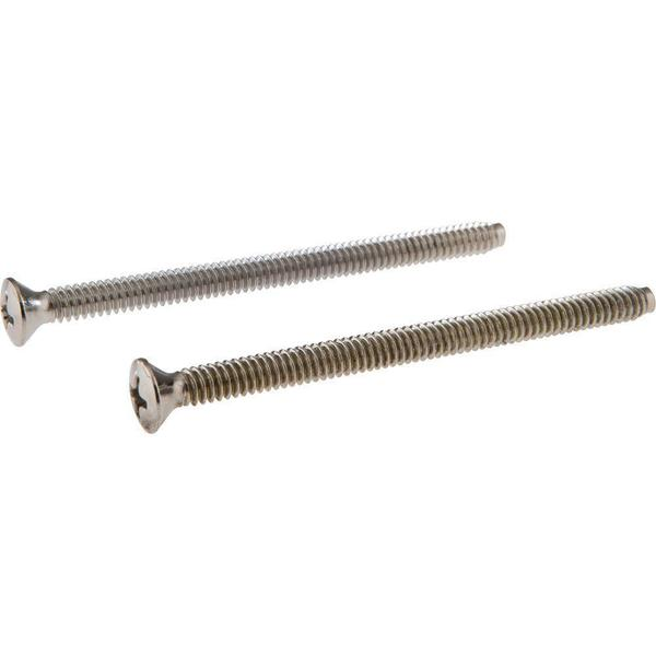Delta Pair of Escutcheon Screws in Chrome RP196