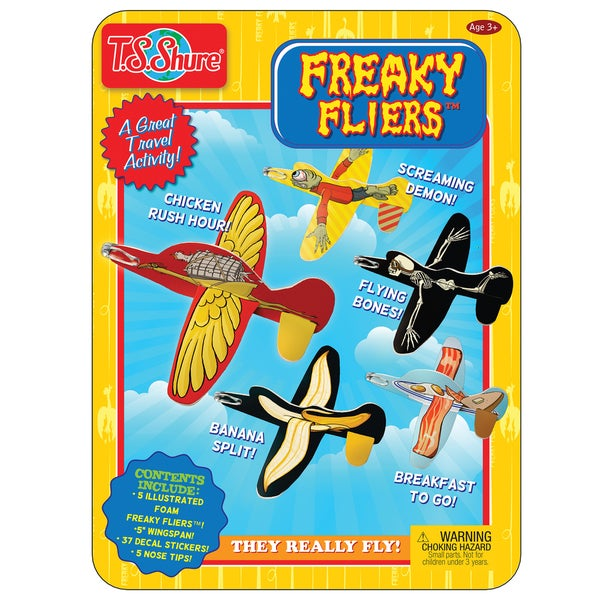 T.S. Shure Freaky Fliers Activity Tin