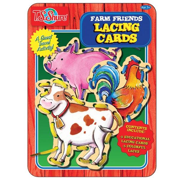 T.S. Shure Farm Friends Lacing Cards Activity Tin 21215076