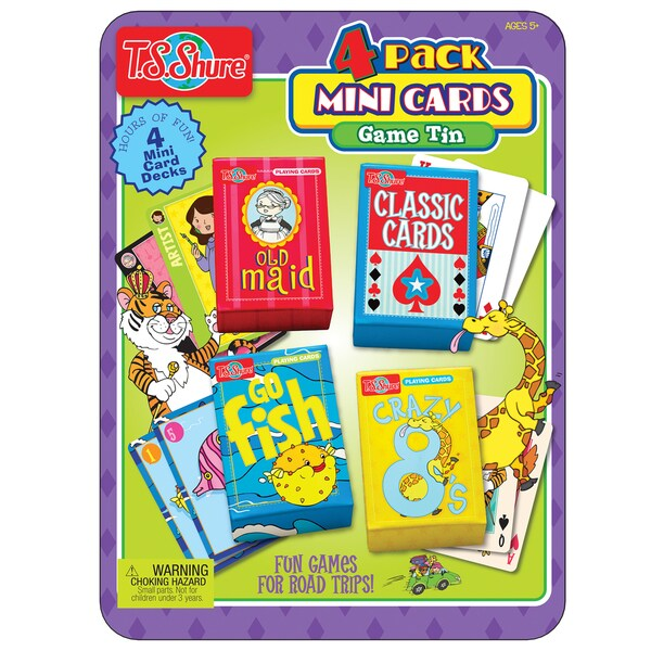 T.S. Shure 4-Pack Mini Card Game Tin