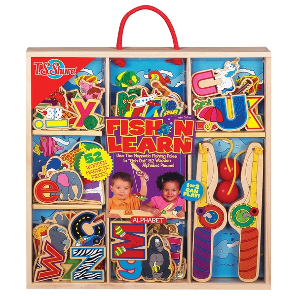 Fish N Learn Alphabet Wooden Magnetic Fishing Set