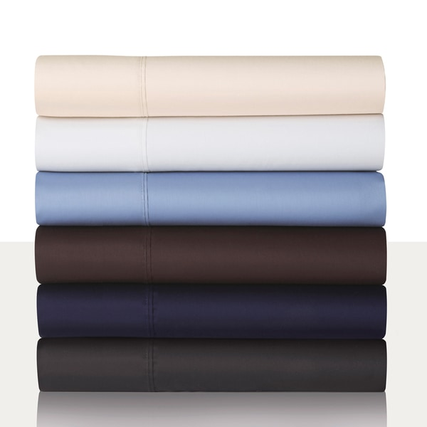 Modern Living 300 Thread Count Solid Full Size Sheet Set in Graphite (As Is Item)