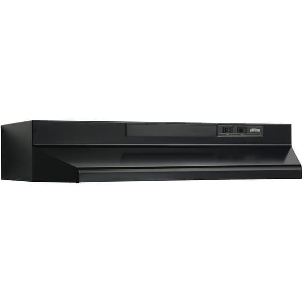 Broan Black Metal 36-inch 2-speed 4-way Convertible Under Cabinet Range Hood