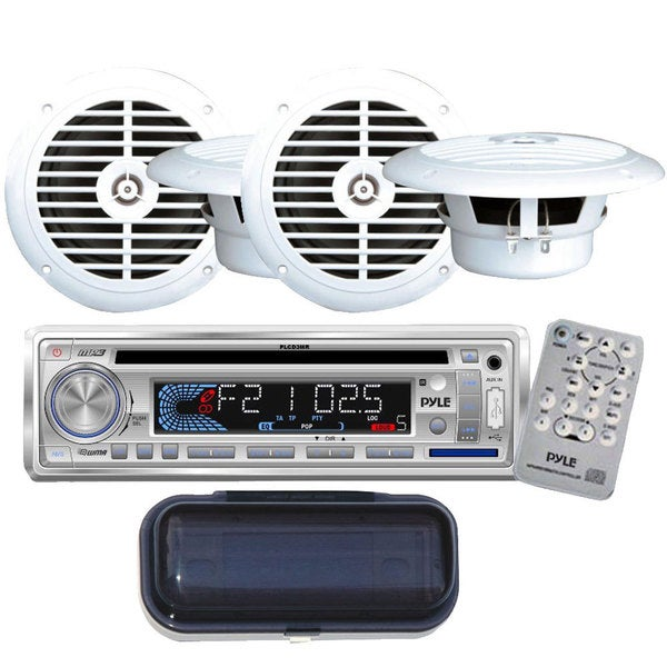 Pyle KTMRGS114 AM/FM-MPX Marine CD/MP3/USB/SD-player In-dash Car/Boat Radio