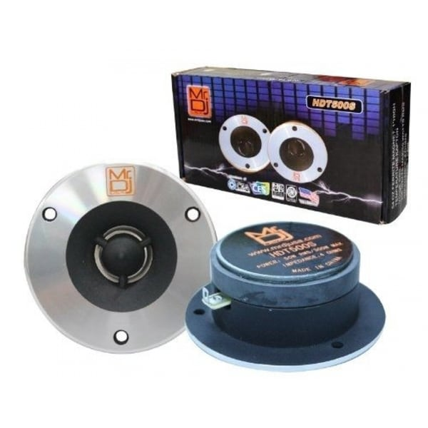 Mr.DJ MRHDT500S Pair 4-Inch Titanium Bullet High-compression Tweeter With 54-ounce Ferrite Magnet