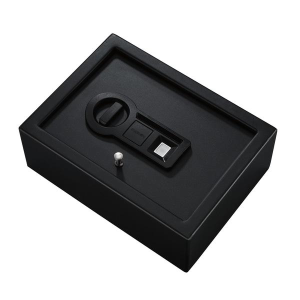 Stack-On Black Biometric Lock Drawer Safe